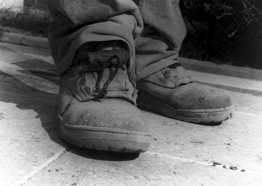 working shoes of a builder