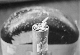 Filters of cigarettes in a steel tube