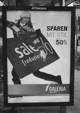 Advertising poster of a department store