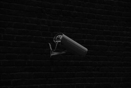 A surveillance camera on the rear of the City Parliament of Bremen