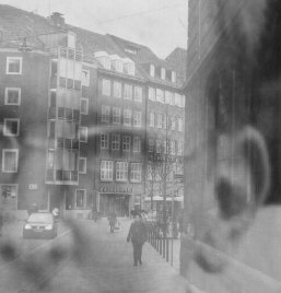 photomontage 'head and street'